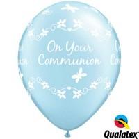 "Communion Butterflies 11"" Pearl Light Blue (25CT)"