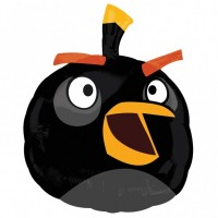 "Angry Birds Black Bird Shape 19"" x 24"""