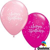 """Shining Star Birthday 11"""" Pink & Wild Berry (25CT)"""