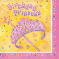 Princess Party Napkins 16CT
