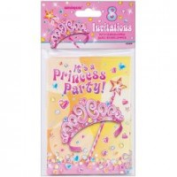 Princess Party Invitations 8CT