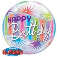 "Birthday Sorbet Starblast 22"" Single Bubble"
