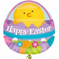 Chick In Basket Easter Super Shape Balloon