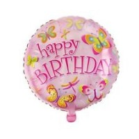 """Happy Birthday - Butterflies and Dragonflies - 18"""" Foil Balloon"""