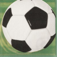 3-D Soccer Luncheon Napkins 16 CT.