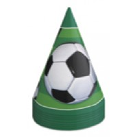 3-D Soccer Party Hats 8 CT.