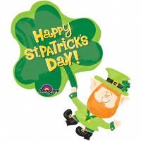 St. Patricks Day Leprechaun Super Shape Foil Balloon
