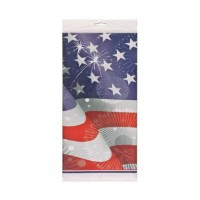 Old Glory Plastic Tablecover