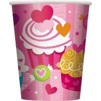 Cup - Valentine Cupcake Heart - 8CT.