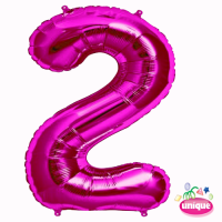 """34"""" Pink Number 2 foil balloon"""