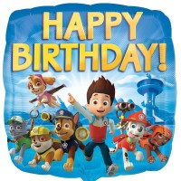 "Paw Patrol Happy Birthday 18"" Foil Balloon"