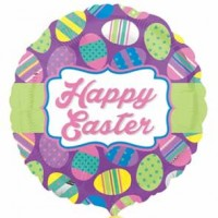 "Easter Dots & Stripes 18"" Foil Balloon"