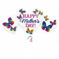 Happy Mother's Day Heart Trio Super Shape