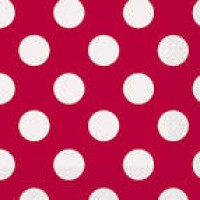Ruby Red. Dots Luncheon Napkins 16 CT.