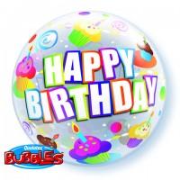 Birthday Colorful Cupcakes