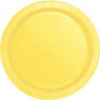Soft Yellow 9'' Round Plates 16 CT.