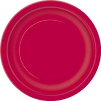 Ruby Red 9'' Round Plates 16 CT.