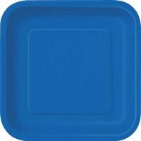 Royal Blue 9'' Square Plates 14 CT.