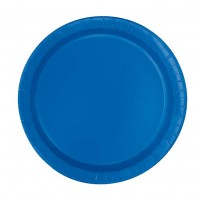 Royal Blue 9'' Round Plates 16 CT.