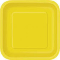 Sunflower Yellow 9'' Square Plates 14 CT.