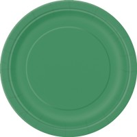 Emerald Green 9'' Round Plates 16 CT.