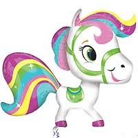Colourful Pony Street Treat Shape - Large Helium Foil Balloon