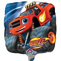 "Blaze & The Monster Machines 9"" - Inflated With Cup & Stick"