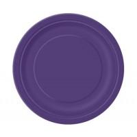 Deep Purple 9'' Round Plates 16 CT.