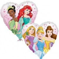 "Disney Princess Heart - 18"" Foil Balloon"
