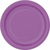 Pretty Purple 9'' Round Plates 16 CT.