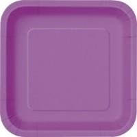 Pretty Purple 9'' Square Plates 14 CT.