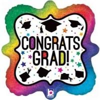 """Congrats Grad - 18"""" Foil Balloon"""