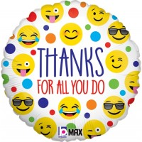 "Thanks For All You Do - 18"" Foil Balloon"
