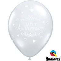 "Anniversary Classic Hearts 11"" Diamond Clear (25CT)"