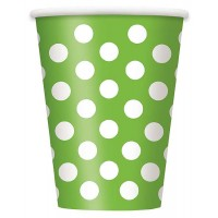 Lime Green. Dots 12 OZ. Cups 6 CT.