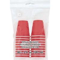 Red Plastic Shot Glasses 2oz 20ct