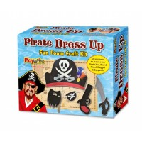 Foam Pirate Dress Up Craft Kit Boxed