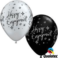 "Engagement Elegant Sparkles 11"" Pearl Onyx Black & Silver (25CT)"