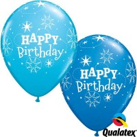 "Sparkle Birthday 11"" Dark Blue & Robin's Egg Blue (25CT)"