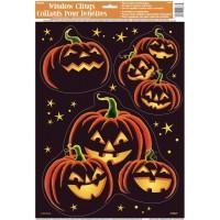 Pumpkin Grin Window Clings Sheet