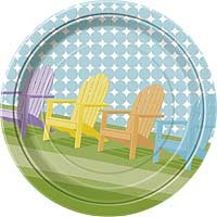 """9"""" Plate - Sunny Chairs - 8ct. 12pk."""