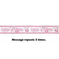 Foil Banner 12ft. - Umbrellaphants Pink - Baby Shower