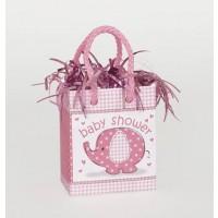 Mini Giftbag Balloon Weight - Umbrellaphants Pink - Baby Shower