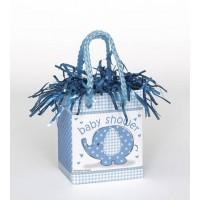 Mini Giftbag Balloon Weight - Umbrellaphants Blue - Baby Shower
