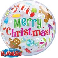 """Candles & Treats Christmas 22"""" Single Bubble"""