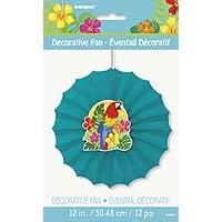 "Paper Decor Fan 12"" Dia. - Tropical Island Luau - 1ct. 12pk."