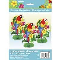 "Honeycomb Decorations 8"" - Tropical Island Luau - 1ct. 12pk."