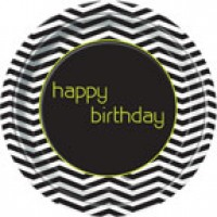 Disigner Birthday 9'' Plates 8CT