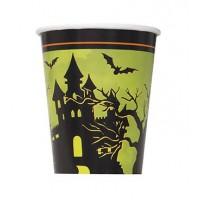 9Oz. Cups - Halloween Haunted House 8CT.