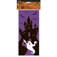 Cello Bags - Halloween Haunted House 20CT.